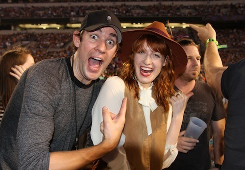awesomepeoplehangingouttogether:  John Krasinski and Florence Welch