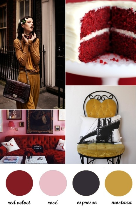 (vía Colour Board 17. Red velvet cake | A Kiss of Colour)