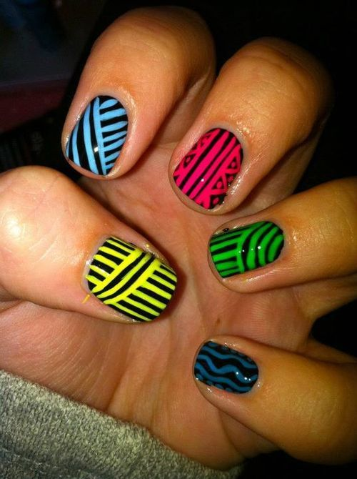 Fan did my Stripy Tribal Design. Good job Girl!