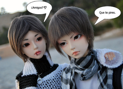 friends by shamandalie06 on Flickr.Masa: friends? Yukio: gtfo ò_ó ———— Elfdoll Sooah boys. Masa —> Mine. Yukio —> Audrey.