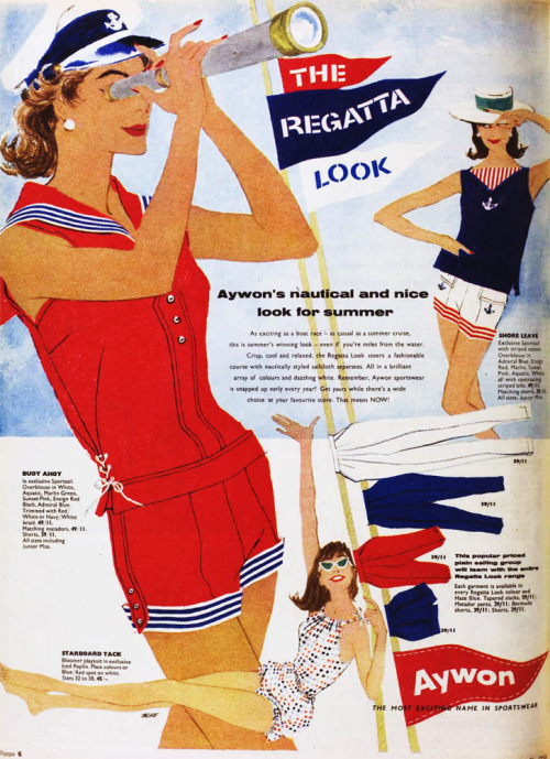 vivatvintage:  The regatta look, 1958