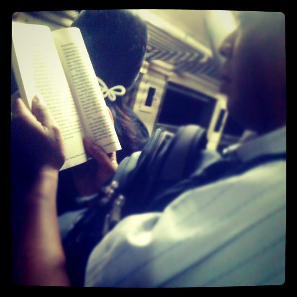 Reading everywhere #indonesia #iphonesia #ig #reading #train #webstagram #iphoneonly #instaaddict #snapshoot #Jakarta #igrs #iphonelover #iphonephotograph (Taken with instagram)