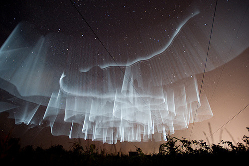 some amazing kind of sky dance…