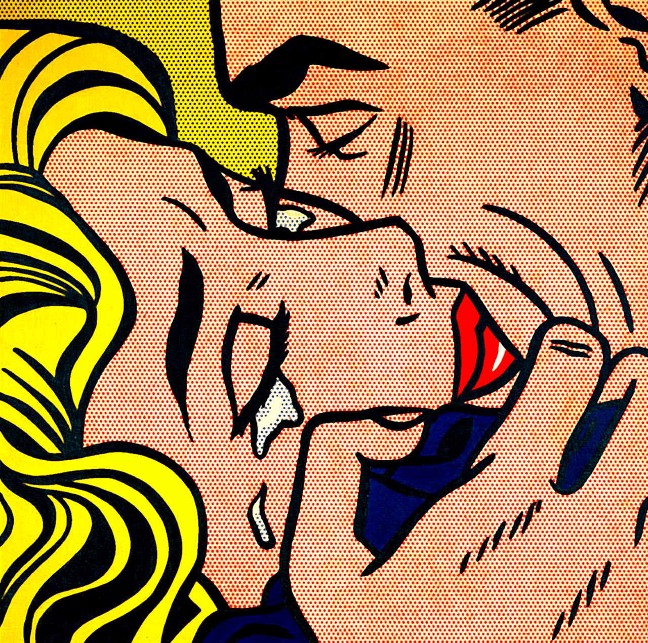 POP ART | Roy Lichtenstein, Kiss