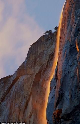 Fire Waterfall…