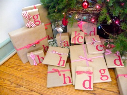 I'M DOING THIS TO MY PRESENTS NEXT CHRISTMAS …LOVE IT