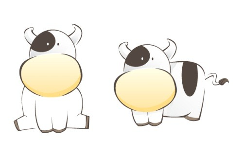 Chinese new year Zodiac cow