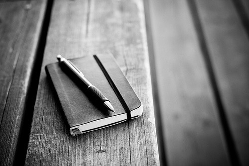 black-and-white:  Moleskine (by Roope Sirola)  Moleskine love <3