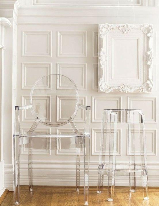 Lucite on white, amazing