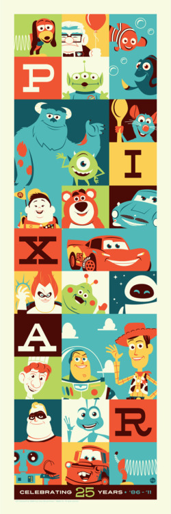 25 Years of Pixar by Dave Perillo