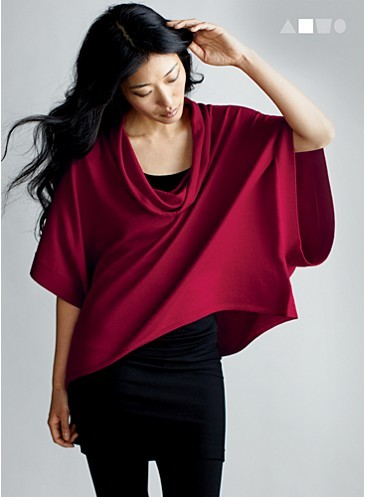 "EF Style I made the Eileen Fisher website!  Entering the ""Casting Call"" contest was not exactly a whim.  I was already thinking of getting back into the fashion pool.  So I put together an entry and within 3 days or so there I was with 41 other women on the web page.  To say I was excited is an understatement.   I'm drawn to the EF vision which is about elegant comfort for women of substance. I like the clean lines and impeccable drape inherent in fall/winter collections especially.  Moreover, what I enjoy about the line is that she makes petite clothing that is actually proportioned appropriately.  Although I must say, it's definitely what I call ""vanity sizing"".  I'm normally a small in most lines, but I often have to go to XS to get the fit I prefer.     There are probably about a dozen Eileen Fisher items in my wardrobe.  I started out buying sweaters.  I finally sold my very first sweater (10 years old) to another EF enthusiast last year.  Still I have 2 cardigans, 2 boxy turtles necks which are oh so au currant now, 2 pairs of slacks in black and brown which are staples in my wardrobe, 2 pairs of tights, 2 scarves, 1 wool tomato red wool coat, and 1 persimmon colored light weight jacket that cinches delightfully at the waist.     Every piece is timeless and exceptionally well made.  I don't mind the price tag because I know I will have these pieces for a minimum of 10 years barring any unforeseen circumstances.  The aesthetic appeals to me: clean elegant simplicity that sits on the body in a tailored manner becoming the perfect base for something surprisingly bold and/or fun.     The only challenge I have with EF is the palette.  There is a disproportionate amount of black and gray.  I wish there was more brown and beige.  Personally, I think warmer tones look better on mature women, but I am also a California girl albeit San Francisco Bay Area.     That said, if I manage to be one of the three women selected, I will have no trouble at all spending the $2500 gift card."