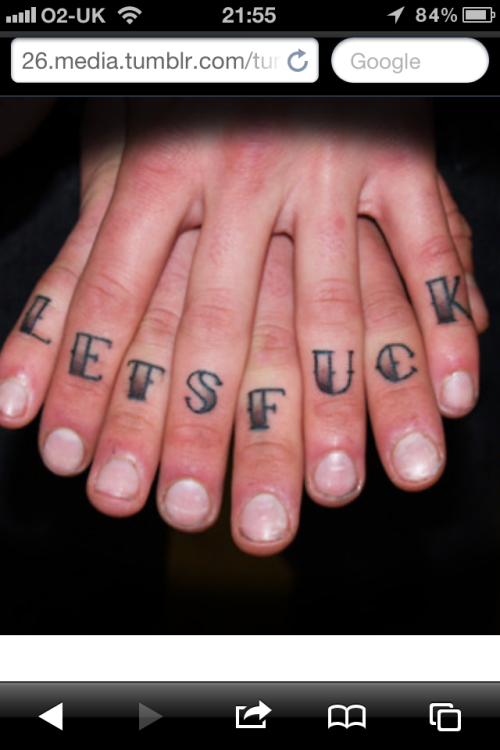 Really tempted to get my knuckles tattooed in January!!