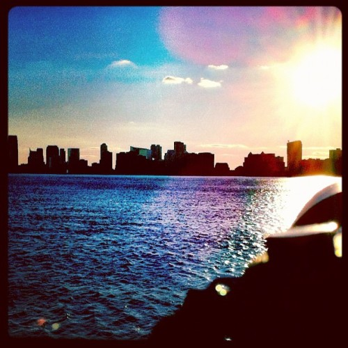 Skyline NEW YORK  (Taken with Instagram at Chelsea Waterside Park)