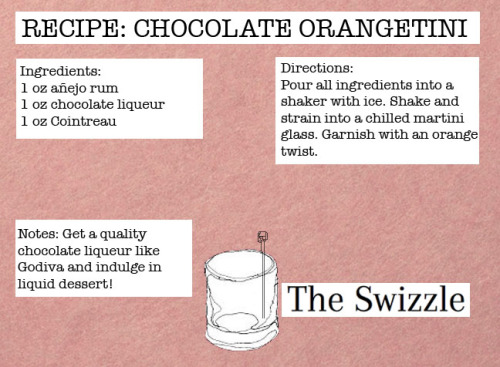 Recipe card I made for the aphrodisiacal Chocolate Orangetini! Pin it to your fridges, darlings!
