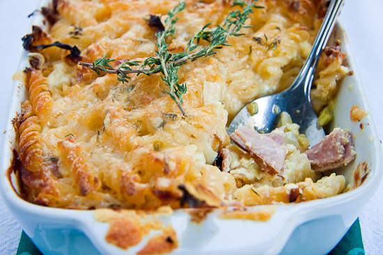 Baked Pasta with Ham & Cheese