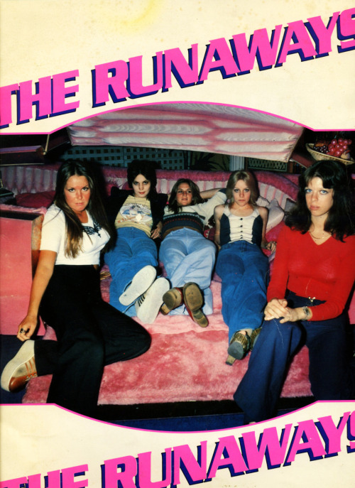 The cover of my Japanese Runaways book published in 1976 by Shinko Music Publishing Company. I shot the cover photo at some car museum on Hollywood Blvd. Wild!  Photo by Brad Elterman