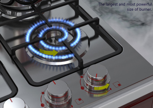 batchiara:  catastrofe:  agenerousdesigner:  Spiral Burner Cooktop by Alireza Alavi  this changes everything  E' la roba più bella del globo  magnifico