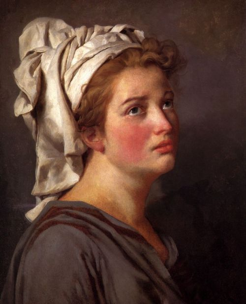 a-l-ancien-regime:  Jacques-Louis David  ( 1748-1825) -Portrait of a Young Woman in a Turban   In the 1780s Jacques-Louis David's cerebral brand of history painting marked a change in taste away from Rococo frivolity toward a classical austerity and severity, chiming with the moral climate of the final years of the Ancien Régime.