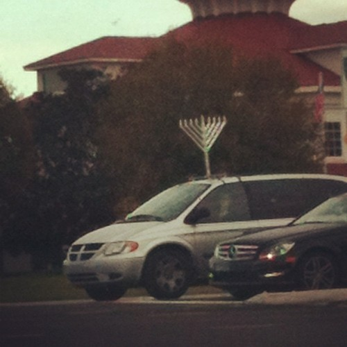 Hanukcar.   (Taken with instagram)