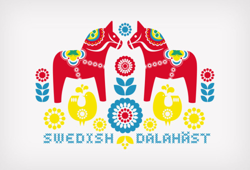 I've just finished a Scandinavia inspired illustration: dalahäst :)
