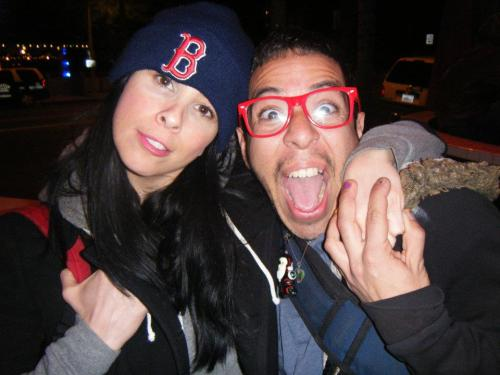 Sarah Silverman and Ricky Luna via Charlie Ballard [A very happy Ricky meeting his comedy idol]