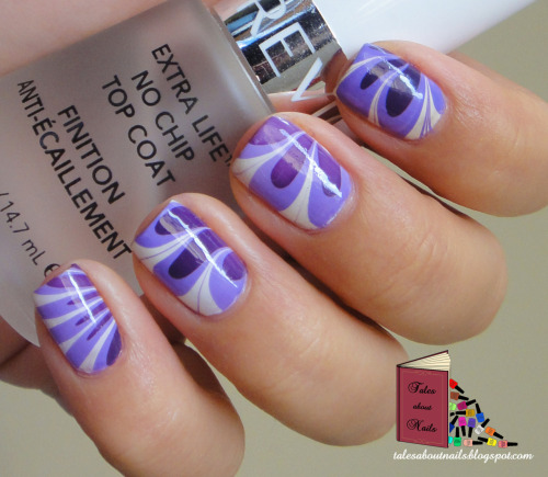 Purple flower water marble Follow the link to check out more pics at my blog.