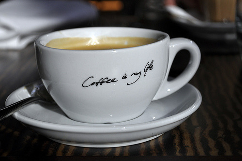 thecakebar:  Coffee is my life!