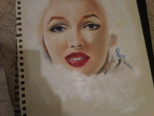 Monroe by Tiffany Pham First attempt with oil paints!