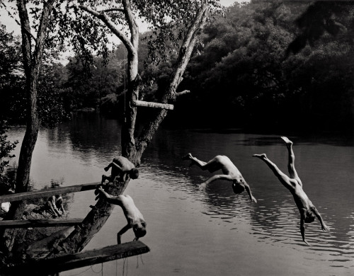 1bohemian:  A.Aubrey Bodine: Boys Swimming on the Patapsco River/Maryland,  1933