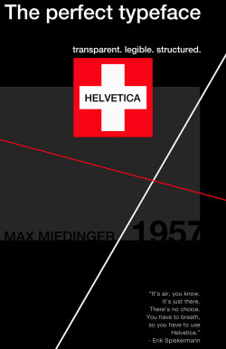 Neue Haas Grotesk - a digital studio 1 project. Helvetica is considered by many typographers to be the perfect typeface. It's also loathed by many and seen as boring and over used. Regardless of which side you're on, Helvetica revolutionized type and helped shape modern communication.