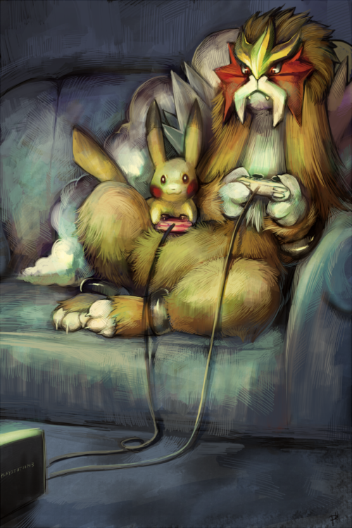 pokemonfourever:  Hanging out by *purplekecleon