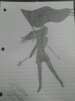 Color Guard Girl i drew this
