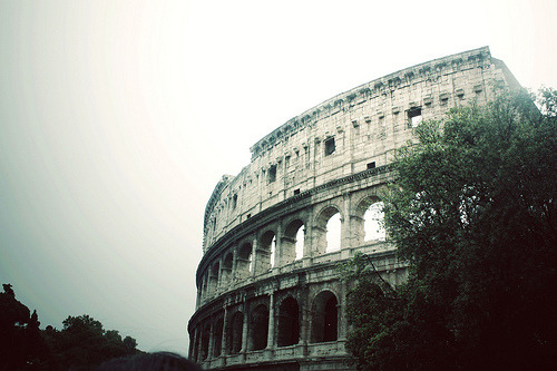 inkysquares:  the mighty colosseum. (by Kristine May.)