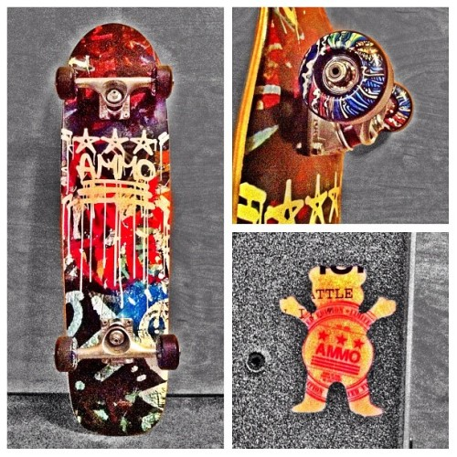"Finally Set up my ""Max Fish"" *AMMO* Collab cruiser! #iphone #iphoneography #iphonephotography #Diptic #GrizzlyGriptape #Tensors #colorsplash  (Taken with Instagram at Target)"