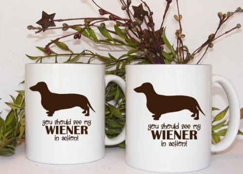 This one is for all you punny people. And wiener lovers, of course.  Sold by Mugsleys