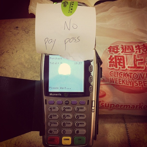 My #worst fear. #paypass #fail means #germs (Taken with instagram)