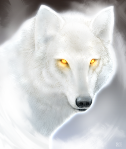 The Boreal King - Winter Wolf by *dloliver