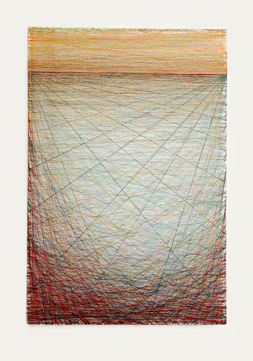 michaelcharles: Emil Lukas, Untitled (colored thread on canvas)