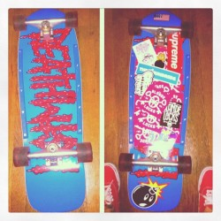 New board #before #after #fat #cruiser #skateboard (Taken with instagram)
