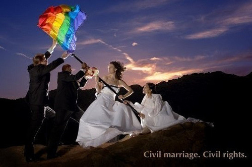 gaywrites:  Civil marriage is a civil right. End of story. (Source.)