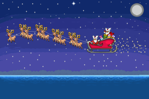 fuckyeahpokemonpix:  Merry Christmas from Delibird Santa with their Stantler reindeer!
