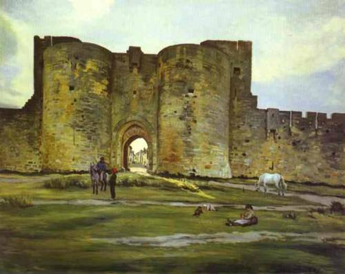 artmagnifique:  FRÉDÉRIC BAZILLE. Port of the Queen at Aigues-Mortes, 1867, oil on canvas.