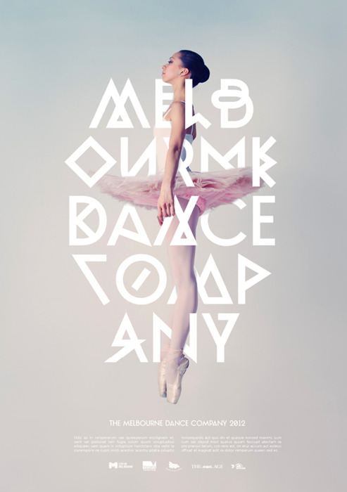 Identity and poster design for the Melbourne Dance Company by Josip Kelava (via mjtj & mrmcqueen)