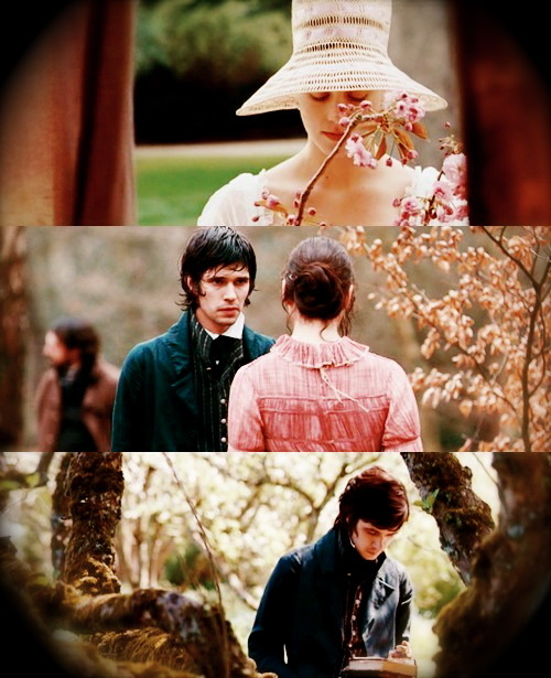 Scenes from Bright Star. I thought this film was brilliant- the costumes, the acting, the way it was shot. It made me cry at the end- it's so tragic that Keats died thinking he was a failure.