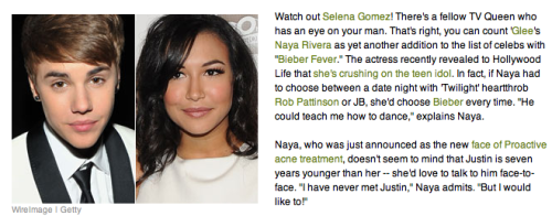 klainetittany:  apparently naya and JB are going to date