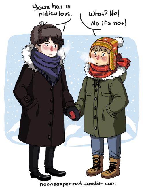 Sherlock and John in Siberia. XD