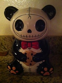 Got this creepy/cute cookie jar for Christmas! So BubbleGothtastic! ♥  - Kerli on Facebook