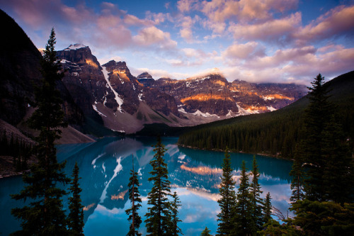 "sleepwalkingthrudreams:  Moraine Lake ""Patches of Light"" by Dan Ballard Photography on Flickr."