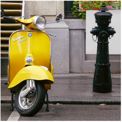 Yellow Vespa Rally 200 (via: boysandvespas). I love these. For a 200cc vespa these are a much cooler body style than the P-series.