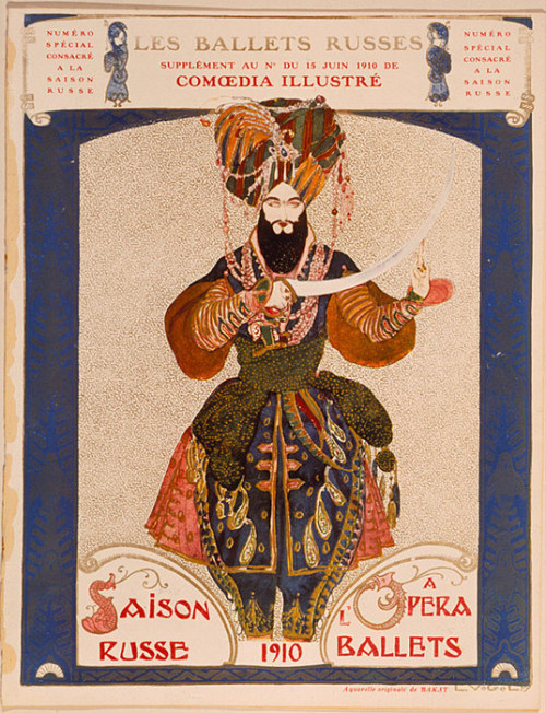 foxpass:  Leon Bakst, program for the ballet Scheherazade, 1910.